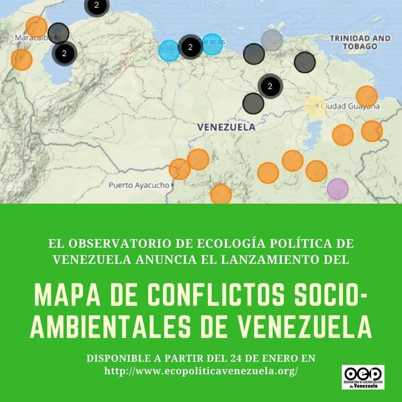 Lanzamiento del Mapa de Conflictos socio-ambientales de Venezuela – MIE 24 ENE