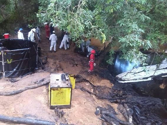 Contaminación en Faja del Orinoco, municipio Monagas (estado Anzoátegui)