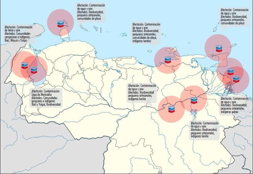 La huella de Chevron en el Lago de Maracaibo y otras regiones
