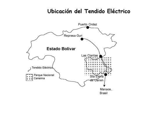 Proyecto de Tendido Eléctrico en el Parque Nacional Canaima