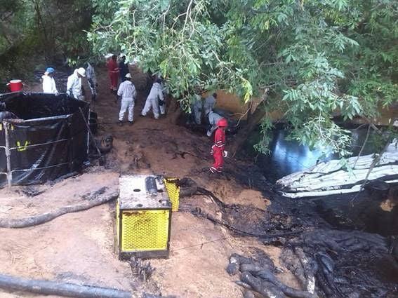 Contaminación en la Faja del Orinoco, municipio Monagas (estado Anzoátegui)