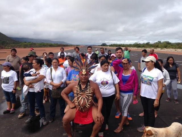 Comunidades indígenas pemón del río Carrao afectados por la minería ilegal en el Parque Nacional Canaima