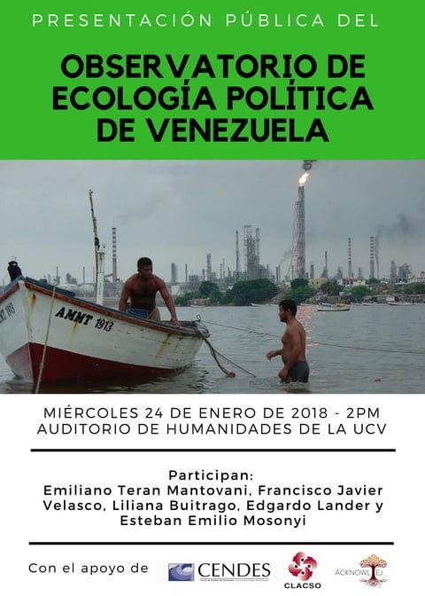 Afiche lanzamiento OEP Venezuela