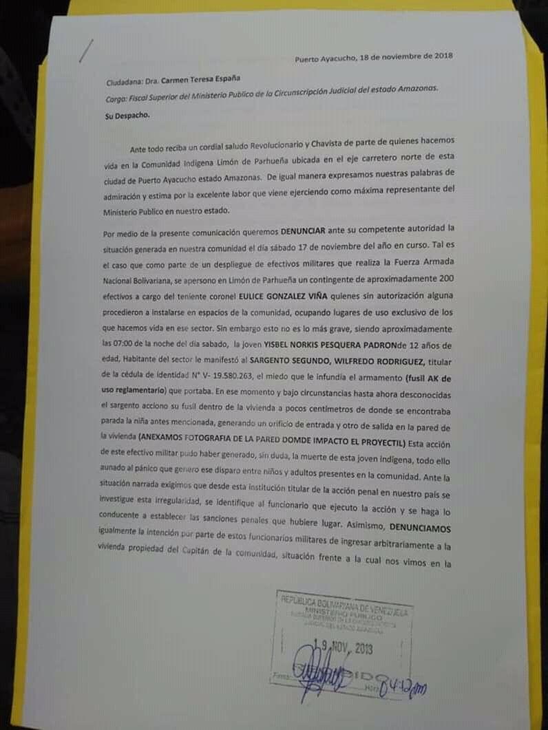 A.C Kapé-Kapé: Jivis de Limón de Parhueña esperan respuesta de Ministerio Público por invasión a sus tierras