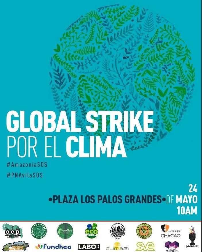 EVENTO: Acción global por el clima. Viernes 24 de mayo en Plaza Los Palos Grandes, Caracas