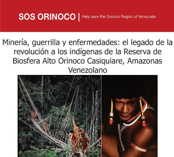 Minería, guerrilla y enfermedades: el legado de la revolución a los indígenas de la Reserva de Biosfera Alto Orinoco Casiquiare, Amazonas Venezolano