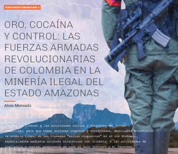Oro, cocaína y control: Las Fuerzas Armadas Revolucionarias de Colombia en la minería ilegal del estado Amazonas
